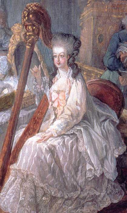 Marie-Antoinette harpe