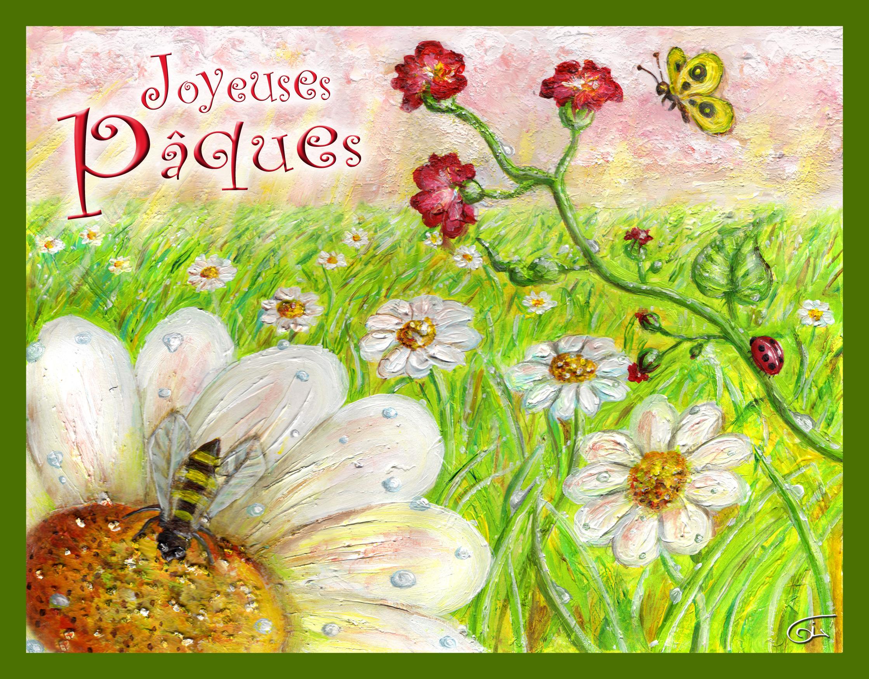 carte : Joyeuses paques
